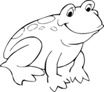 Frog  black and white cute frog clipart black and white free