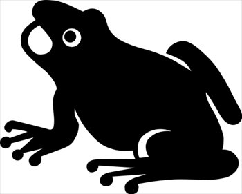 Frog  black and white free frogs clipart graphics images and photos