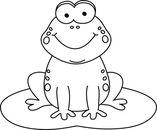 Frog  black and white frog black and white clipart clipground
