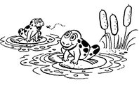 Frog  black and white frog black and white cute frog clip art free