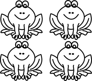 Frog  black and white frog for lillypad clip art at vector clip art