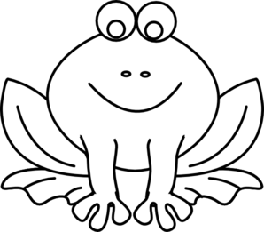 Frog  black and white frog outline clip art at vector clip art