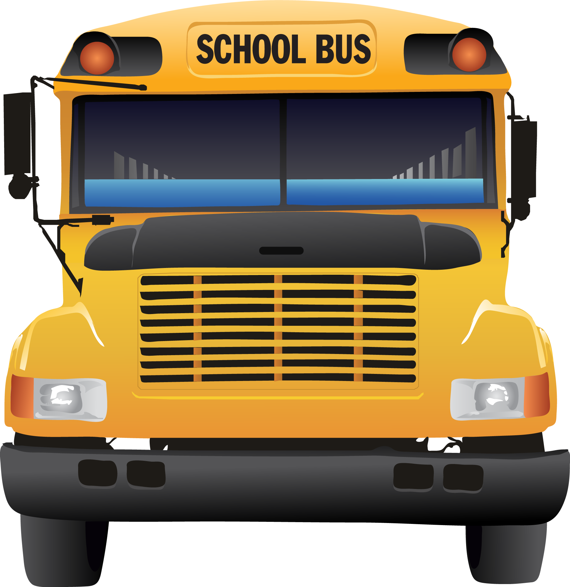 Front of school bus clipart clipartxtras