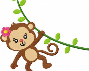 Girl monkey clip art library