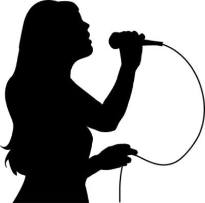 Girl singing into microphone clipart clipartandscrap