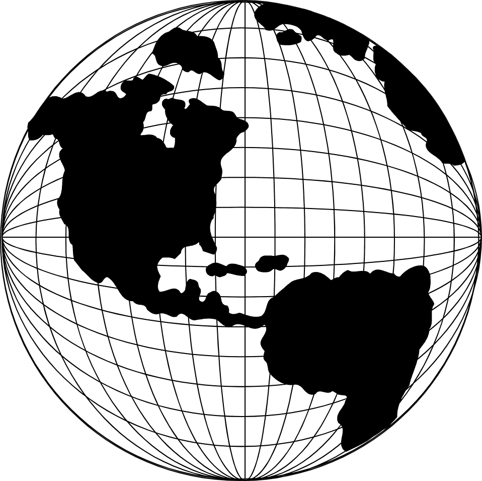 Globe clipart globe map pencil and in color