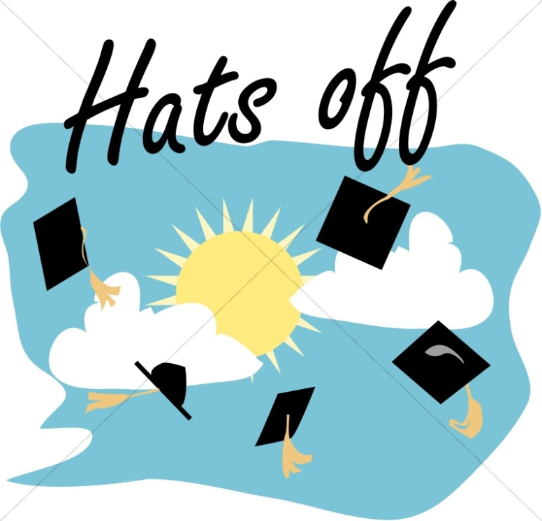Graduation caps off christian clipart and images