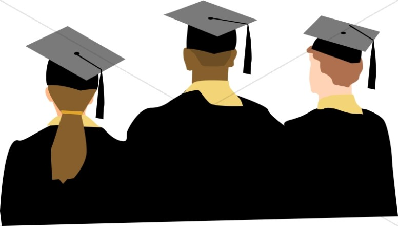 Graduation ceremony clipart college graduate pencil and in color ceremony