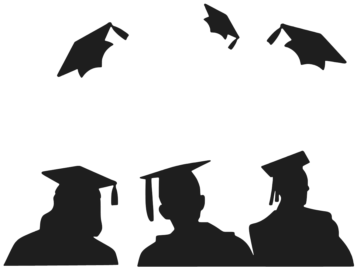 Graduation clip art black and white free clipart