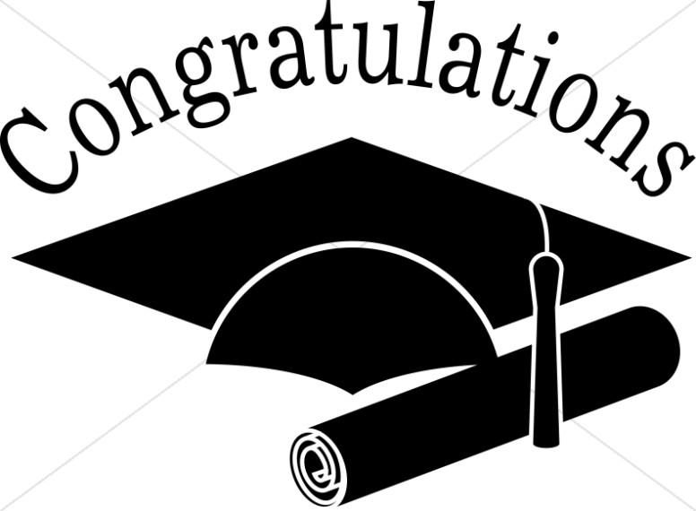 Graduation congratulations grads black and white clip art christian