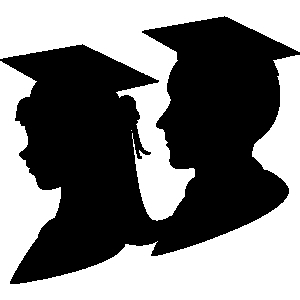 Graduation girl and boy graduate clipart clip art library