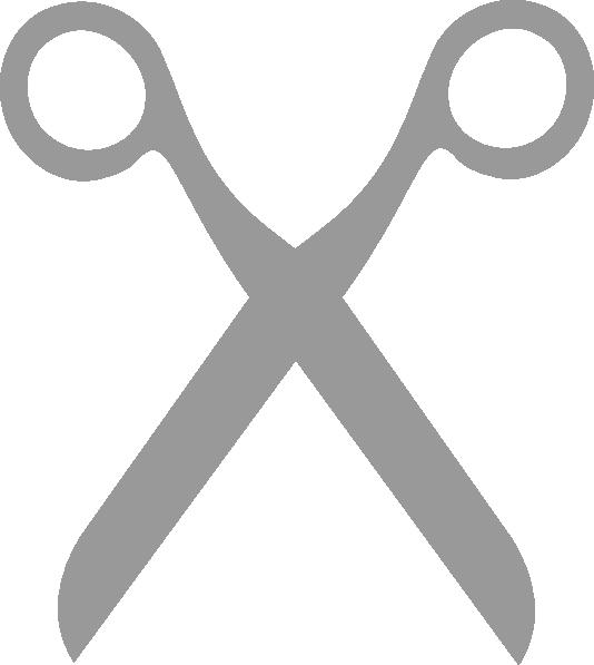 Grey scissors clip art at vector clip art