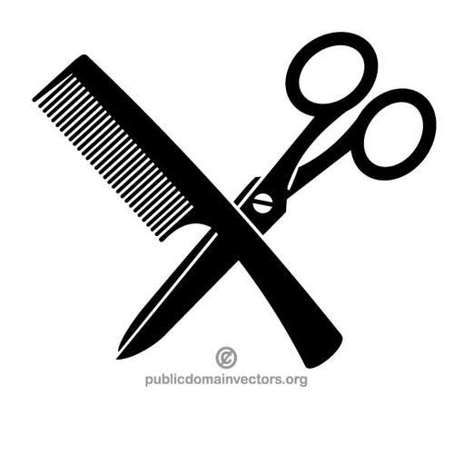Hair scissors clip art free vectors