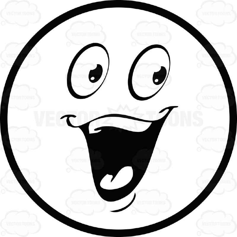 Happy face black and white smiley face clip art