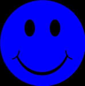 Happy face blue smiley face clip art at vector clip art 2