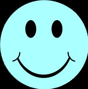 Happy face blue smiley face clip art at vector clip art