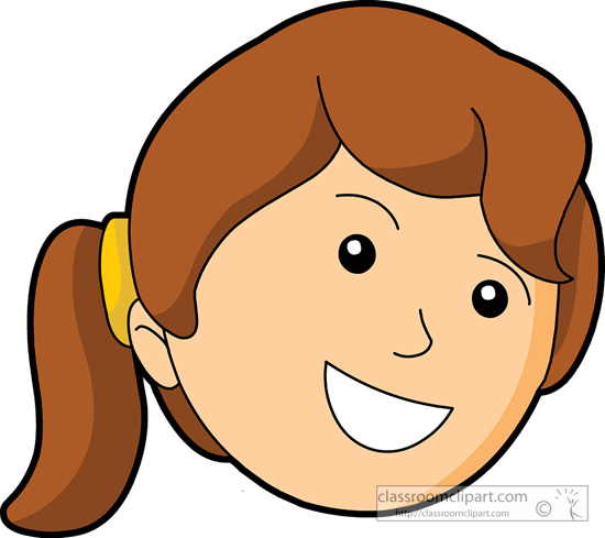 Happy face girl clipart smiley face pencil and in color girl