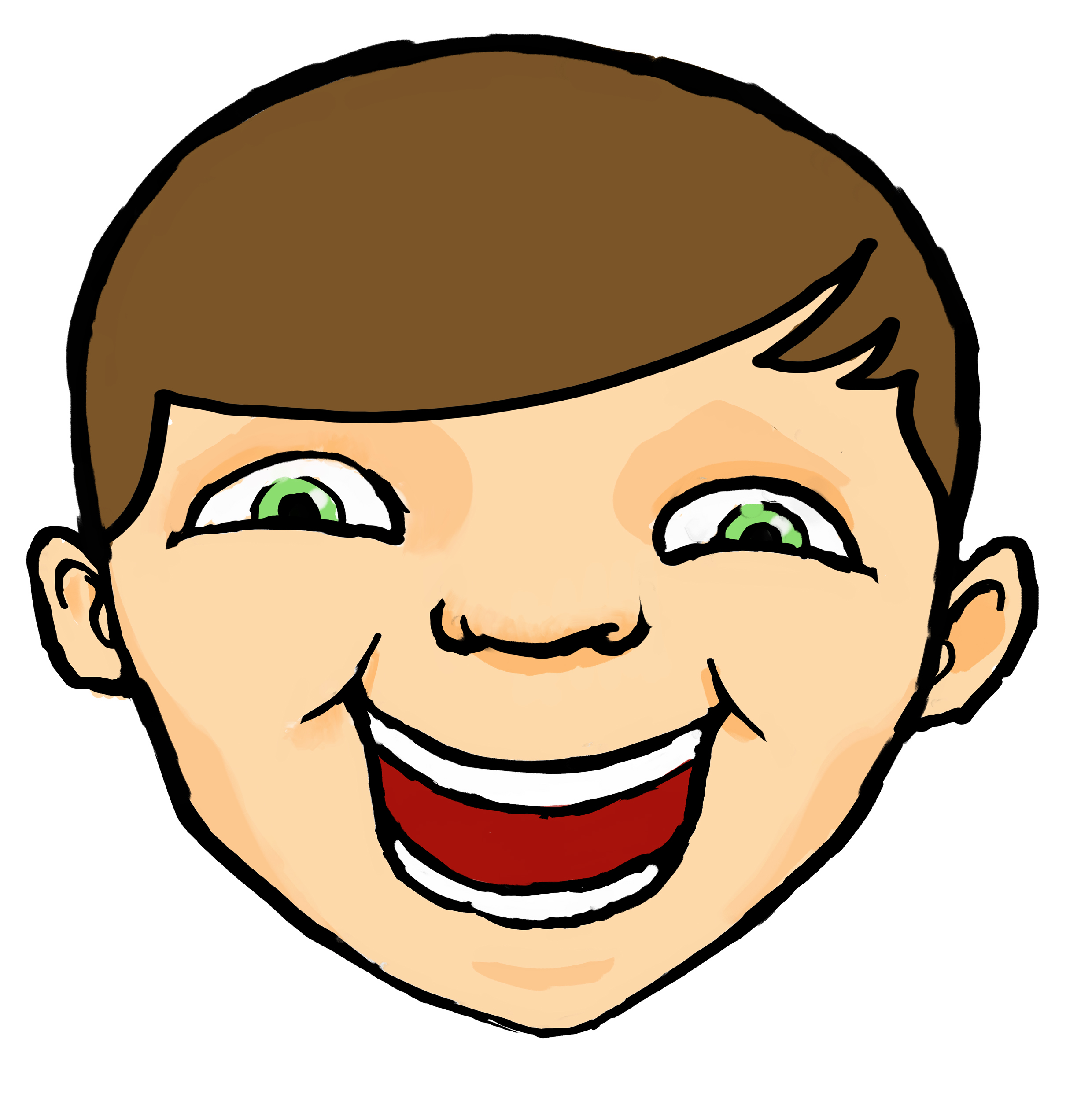 Happy face happy kids clipart free images clipartandscrap