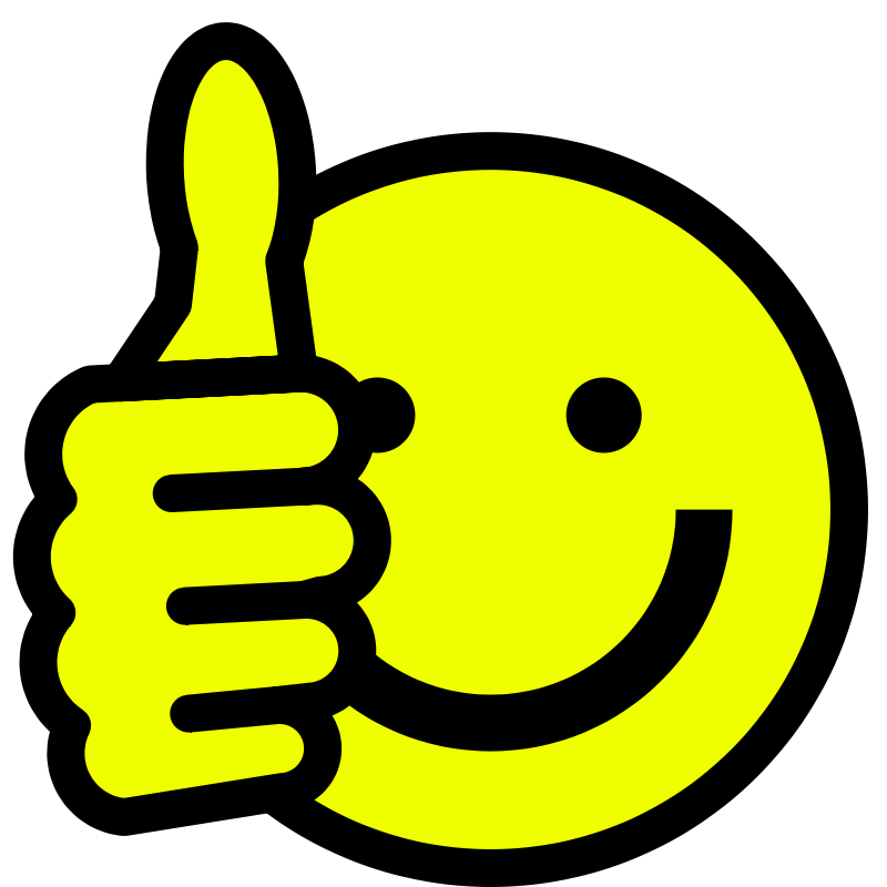 Happy face smiley clip art thumbs up free clipart images