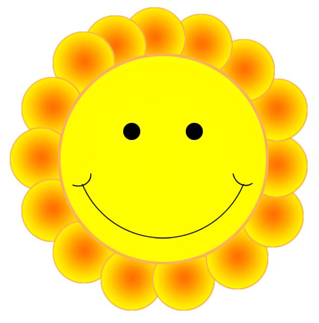 Happy face smiley emotions clip art cute flower simple