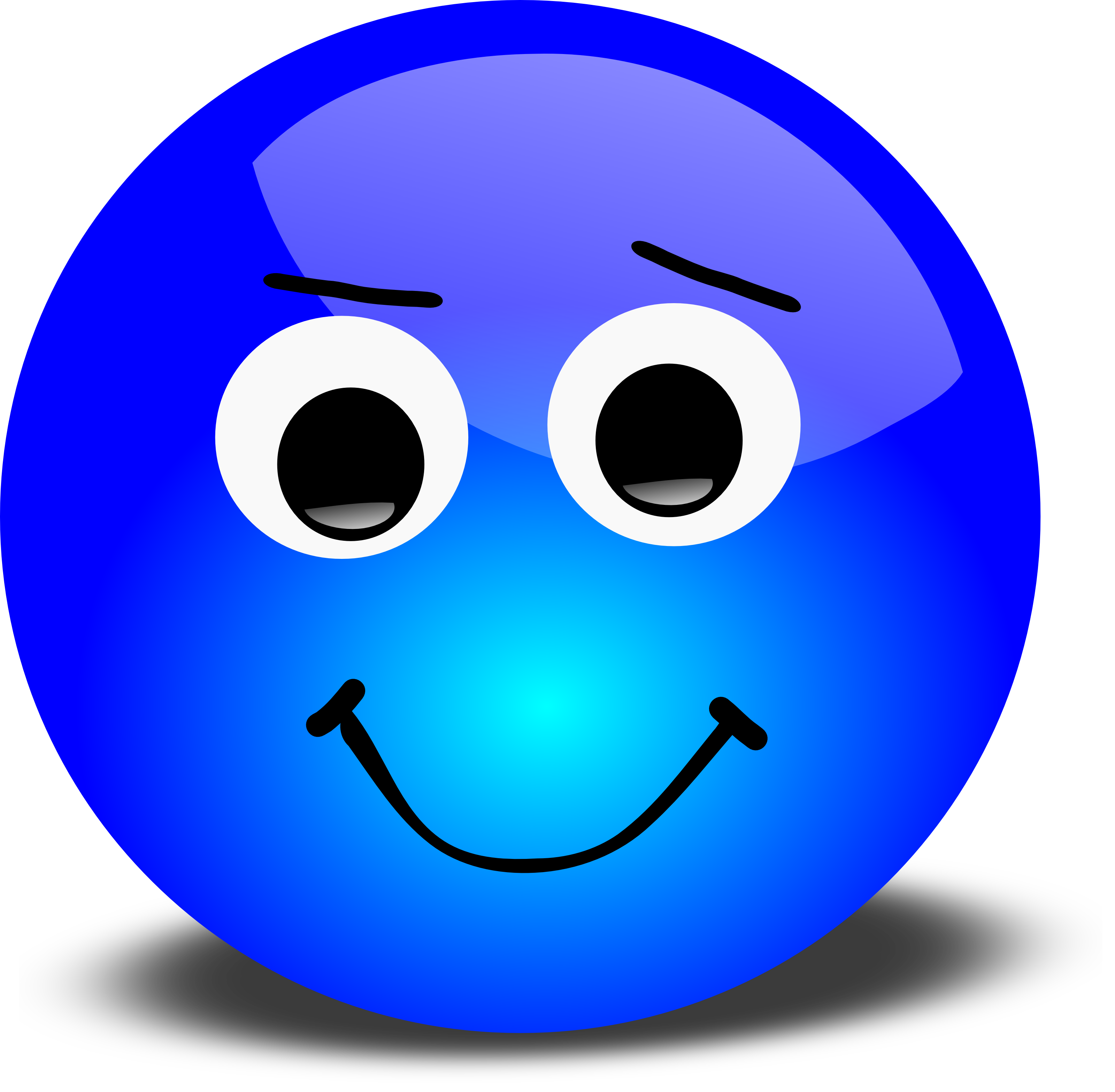 Happy face smiley emotions clip art free 3d disagreeable