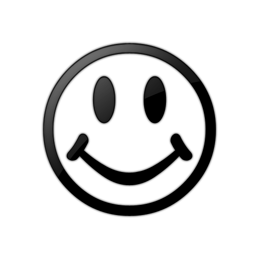 Happy face smiley face black and white clipart transparent stick
