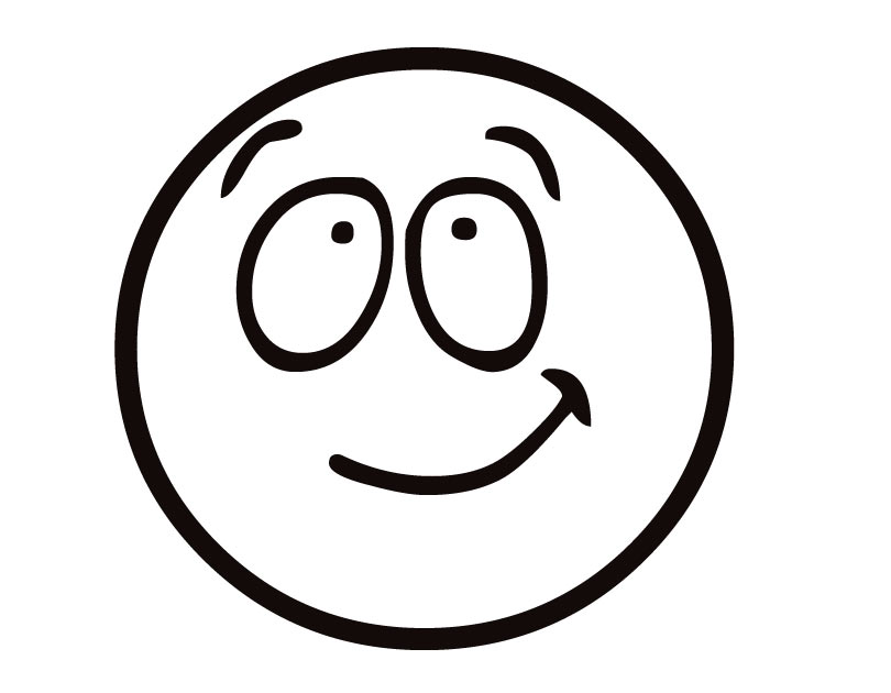 Happy face smiley face black and white printable smiley faces clipart