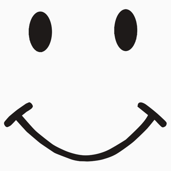 Happy face smiley face black and white smile clipart