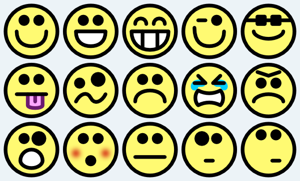 Happy face smiley face small happy clipart