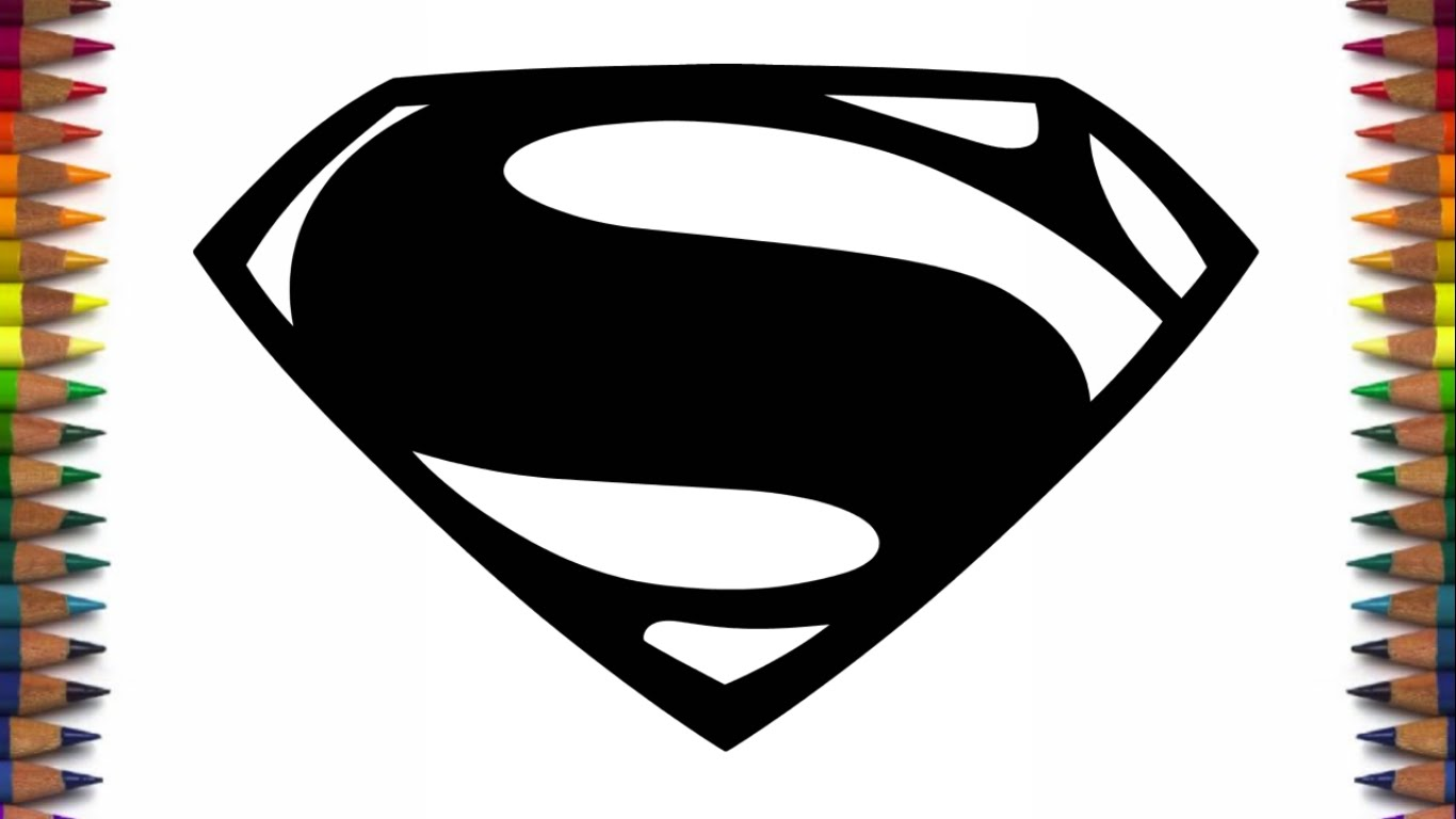 How to draw new batman and superman logos from