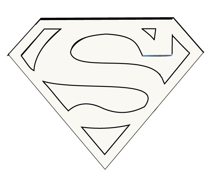 How to draw superman logo easy step by drawing guides 2