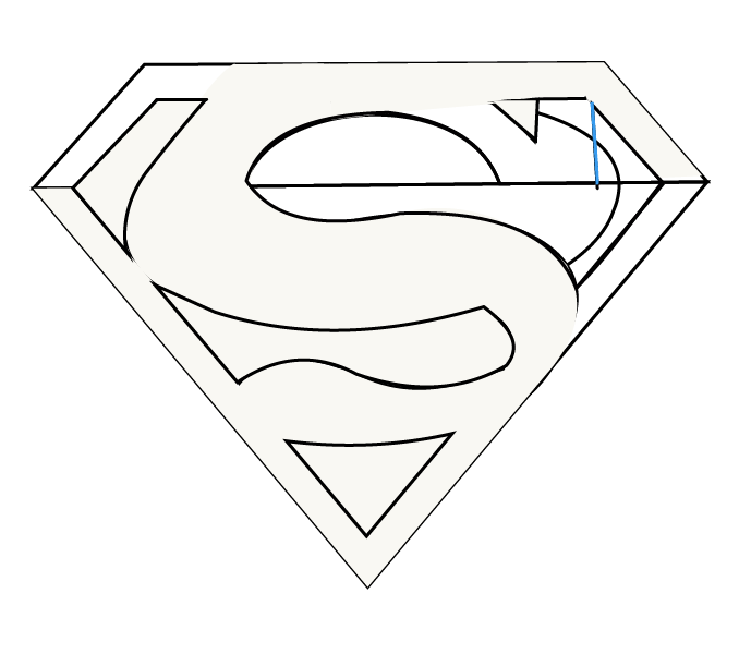 How to draw superman logo easy step by drawing guides