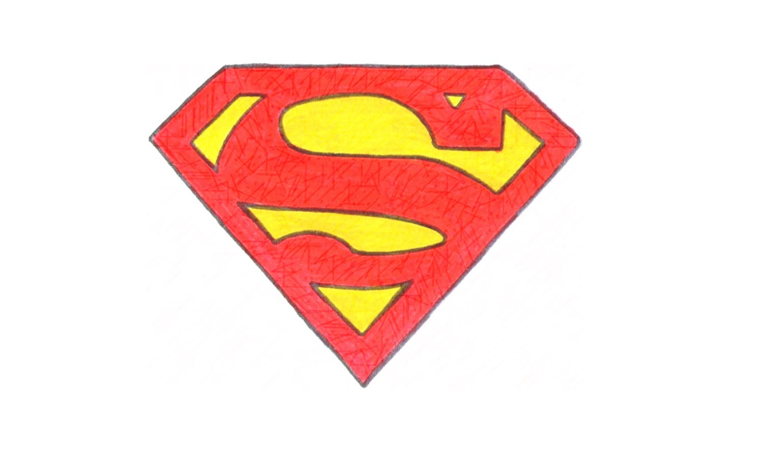 How to draw the superman logo symbol youtube 2