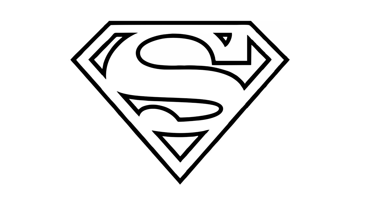 How to draw the superman logo symbol youtube