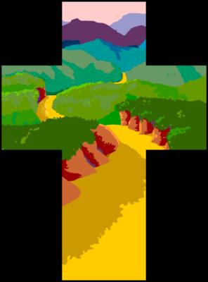 Image cross pathway clip art