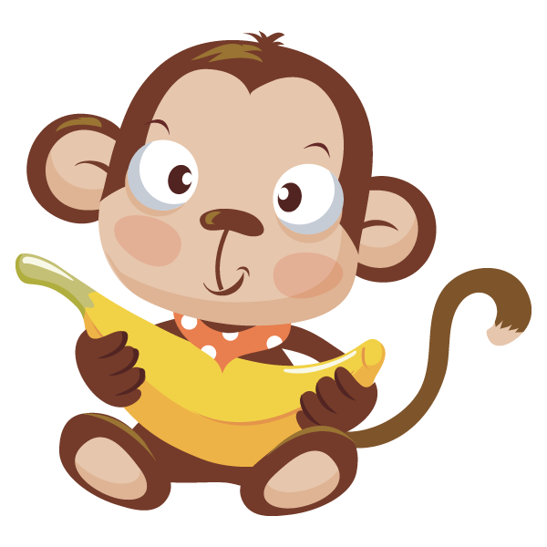 Image of baby monkey clipart 7 with banana clip
