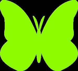 Lime green butterfly clip art at vector clip art