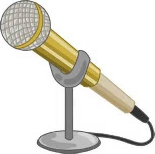Microphone clip art free
