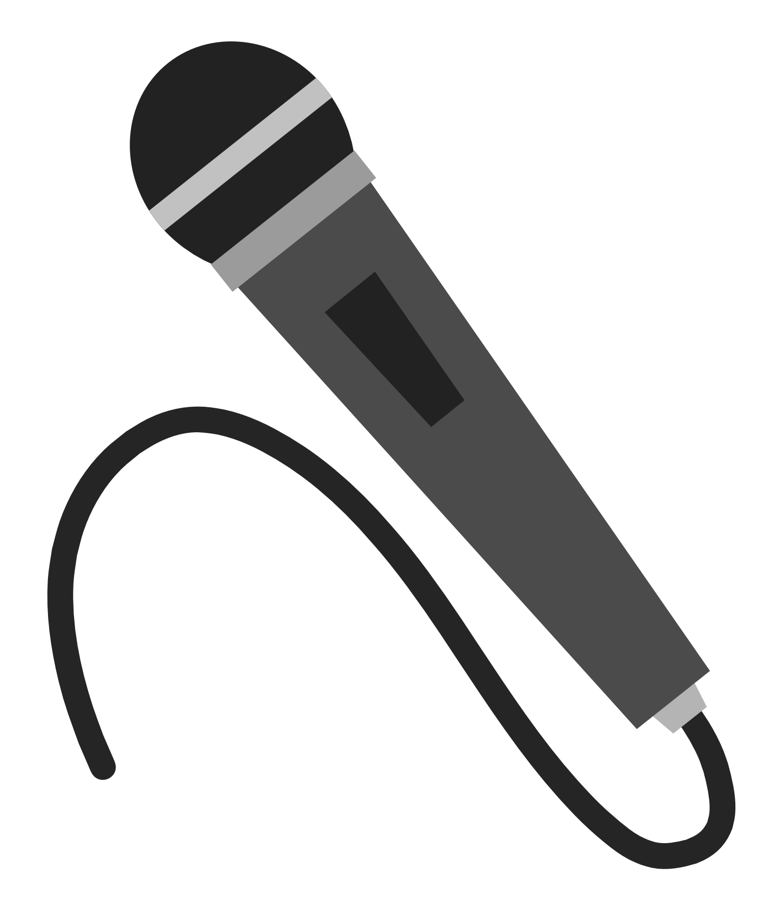 Microphone clipart 3 image