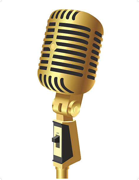 Microphone clipart gold pencil and in color microphone