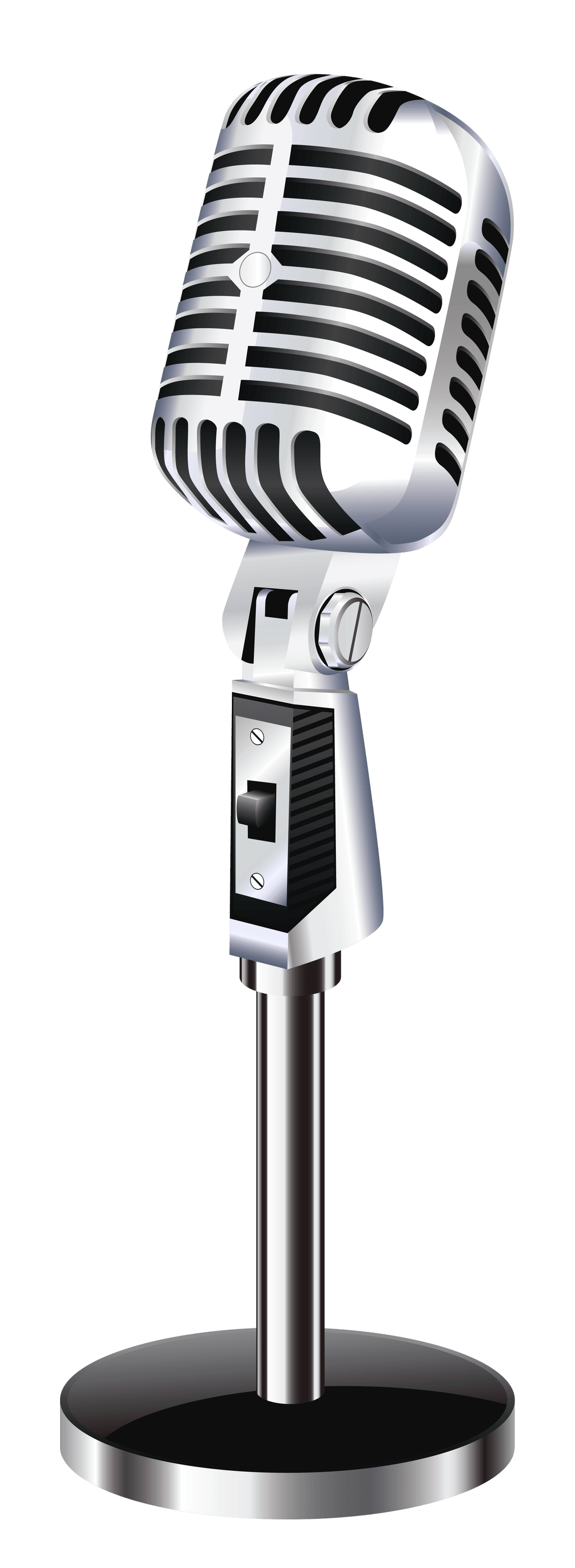 Microphone clipart vintage microphone pencil and in color