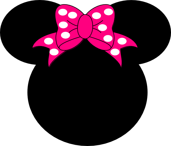 Minnie mouse head 3 clipart