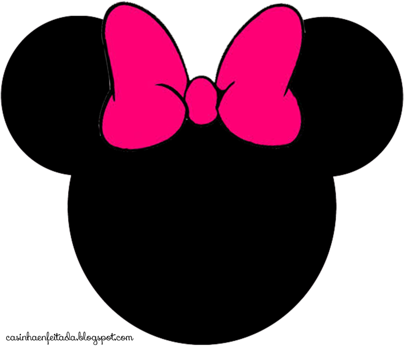 Minnie mouse head 3 cliparts