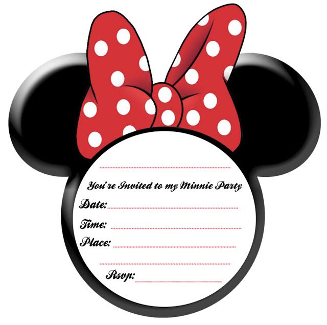 Minnie mouse head mickey mouse head template for invitations diy clip art