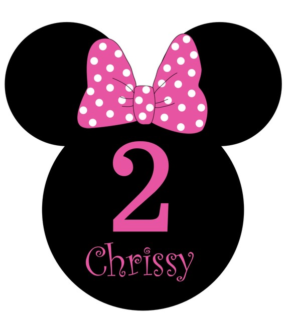 Minnie mouse head mouse head polka dots clipart