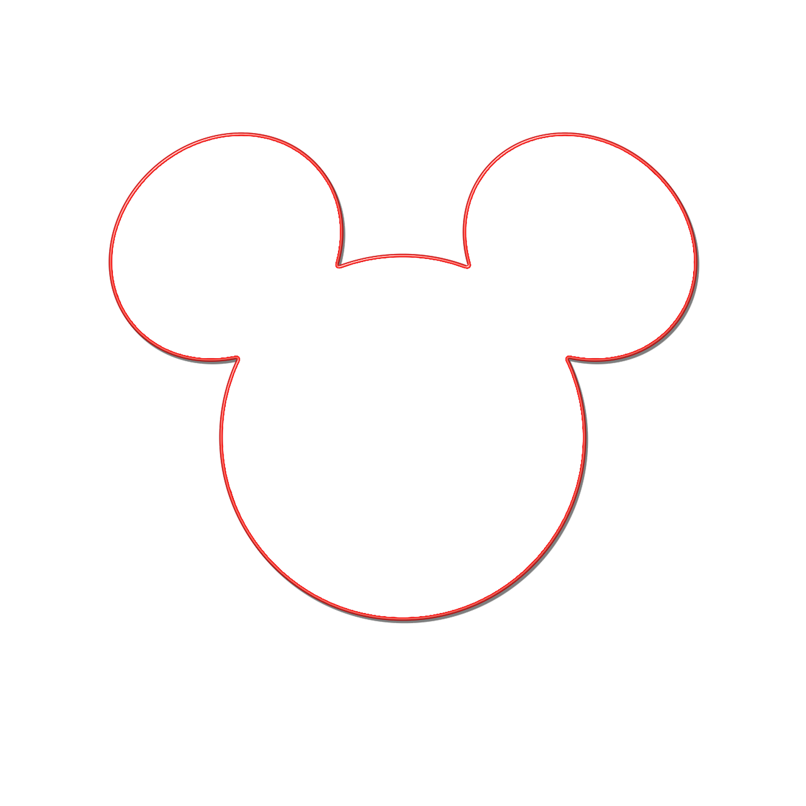 Minnie mouse head outline free download clip art 3