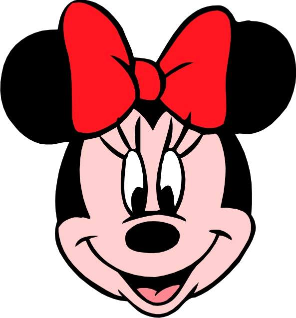 Minnie mouse head outline free download clip art