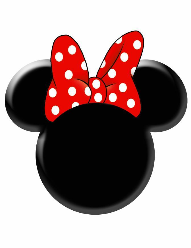 Minnie mouse head with bow clipart