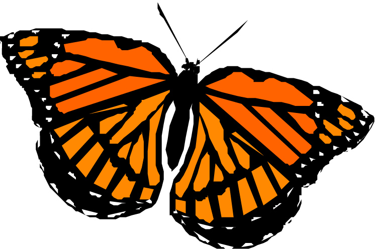 Monarch butterfly clipart the cliparts