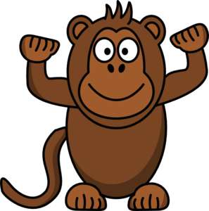 Monkey clip art at vector clip art